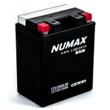 Batterie moto Numax Premium AGM avec pack acide  YTX14AHL-BS 12V 13Ah 220A