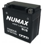Batterie moto Numax Premium AGM avec pack acide  YTX20CH-BS 12V 18Ah 250A