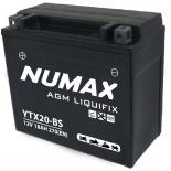 Batterie moto Numax Premium AGM avec pack acide  YTX20-BS 12V 18Ah 270A