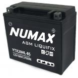 Batterie moto Numax Premium AGM avec pack acide  YTX20HL-BS 12V 18Ah 270A
