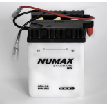 Batterie moto Numax Standard avec pack acide  6N4-2A 6V   4Ah 35A