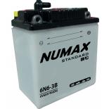 Batterie moto Numax Standard avec pack acide  6N6-3B 6V   6Ah 40A