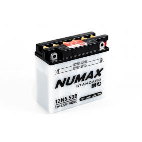 Batterie moto Numax Standard avec pack acide  12N5.5-3B 12V 5.5Ah 78A