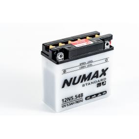 Batterie moto Numax Standard avec pack acide  12N5.5-4B 12V 5.5Ah 78A