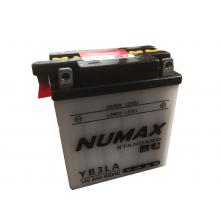 Batterie moto Numax Standard avec pack acide  YB3L-A 12V 3Ah 42A