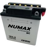 Batterie moto Numax Standard avec pack acide  YB3L-B 12V 3Ah 42A