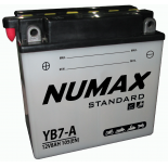Batterie moto Numax Standard avec pack acide  YB7-A 12V 7Ah 105A