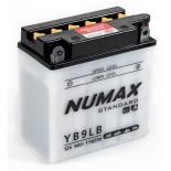 Batterie moto Numax Standard avec pack acide  YB9L-B 12V 9Ah 115A