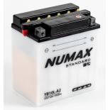 Batterie moto Numax Standard avec pack acide  YB10L-A2 12V 11Ah 120A