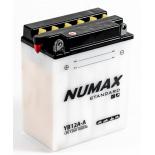 Batterie moto Numax Standard avec pack acide  YB12A-A 12V 12Ah 150A
