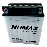 Batterie moto Numax Standard avec pack acide  YB12AL-A 12V 12Ah 150A