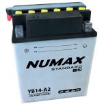 Batterie moto Numax Standard avec pack acide  YB14-A2 12V 14Ah 175A