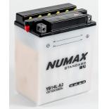 Batterie moto Numax Standard avec pack acide  YB14L-A2 12V 14Ah 175A