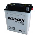 Batterie moto Numax Standard avec pack acide  YB14-B2 12V 14Ah 175A