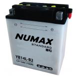 Batterie moto Numax Standard avec pack acide  YB14L-B2 12V 14Ah 175A