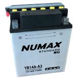 Batterie moto Numax Standard avec pack acide  YB14A-A2 12V 14Ah 175A