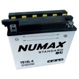 Batterie moto Numax Standard avec pack acide  YB18L-A 12V 18Ah 215A