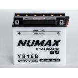 Batterie moto Numax Standard avec pack acide  YB16-B 12V 19Ah 215A
