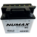 Batterie moto Numax Standard avec pack acide  YB16CL-B 12V 19Ah 240A