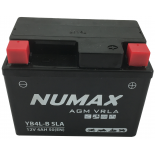 Batterie moto Numax Scellé AGM   YB4L-B  SLA  12V 4Ah 45A