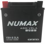 Batterie moto Numax Numax Scellé AGM  YB9-B  SLA 12V 9Ah 115A