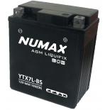 Batterie moto Numax Premium Numax Scellé AGM  YTX7L-BS  SLA 12V 6Ah 100A
