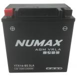 Batterie moto Numax Premium Numax Scellé AGM  YTX16-BS SLA 12V 14Ah 249A