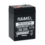 Batterie FULBAT  AGM  plomb étanche FP6-4.5 (T1) 6 volts 4,5 Amps