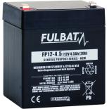 Batterie FULBAT  AGM  plomb étanche FP12-4.5 (T1) 12 volts 4,5 Amps