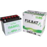Batterie Fulbat tondeuse autoportée 12V 24AH - 12N24-3A  (-/+) + à droite