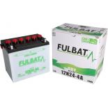 Batterie Fulbat tondeuse autoportée 12V 24AH - 12N24-4A  (+/- ) + à Gauche