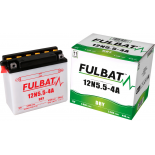 Batterie Fulbat moto 12N5,5-4A 12V 5,5AH  (avec entretien)