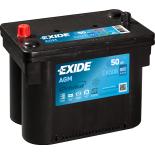 BATTERIE EXIDE AGM G34 12V 50AH 800A 260X173X206  EK508