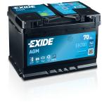 BATTERIE EXIDE AGM L3 12V 70AH 760A 278X175X190 +D EK700