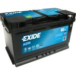 BATTERIE EXIDE AGM L4 12V 80AH 800A 315X175X190 +D EK800