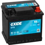 BATTERIE EXIDE EFB L1 12V 55AH 480A 207X175X190 +D EL550