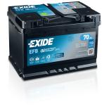BATTERIE EXIDE EFB L3 12V 70AH 720A 278X175X190 +D EL700