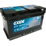 BATTERIE EXIDE EFB L4 12V 79AH 720A 315X175X190 +D EL800