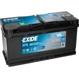 BATTERIE EXIDE EFB L6 12V 105AH 950A 392X175X190 +D EL1050