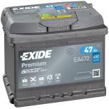 BATTERIE EXIDE PREMIUM LB1 12V 47AH 450A 207X175X175 +D EA472