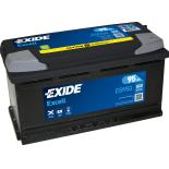 BATTERIE EXIDE EXCELL L5 12V 95AH 800A 353X175X190 +D EB950