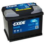BATTERIE EXIDE EXCELL L2 12V 62AH 540A 242X175X190 +D EB620