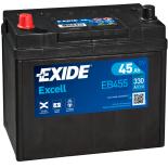 BATTERIE EXIDE EXCELL B24 12V 45AH 330A 237X127X227 +G EB455