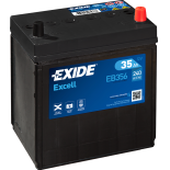 BATTERIE EXIDE EXCELL B19 12V 35AH 240A 187X127X220 +D EB356