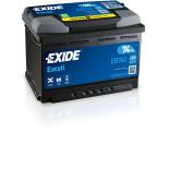 BATTERIE EXIDE EXCELL L3 12V 74AH 680A 278X175X190 +D EB740