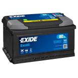 BATTERIE EXIDE EXCELL LB4 12V 80AH 700A 315X175X175 +D EB802
