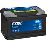 BATTERIE EXIDE EXCELL L4 12V 80AH 640A 315X175X190 +D EB800