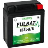 Batterie moto GEL  FB3L-A/B GEL /YB3L-A/B  FULBAT SLA Etanche  3,2AH 35 AMPS