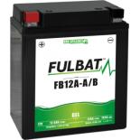 Batterie moto GEL  FB12A-A/B GEL /YB12A-A/B  FULBAT SLA Etanche  12.6AH 155 AMPS