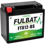 Batterie moto GEL  FTX12-BS GEL /YTX12-BS  FULBAT SLA Etanche  10.5AH